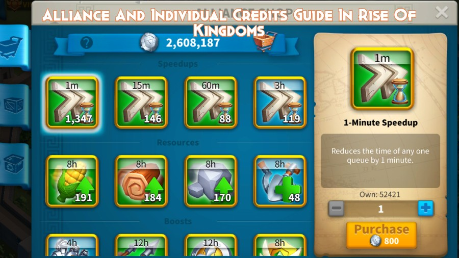 Alliance And Individual Credits Guide In Rise Of Kingdoms