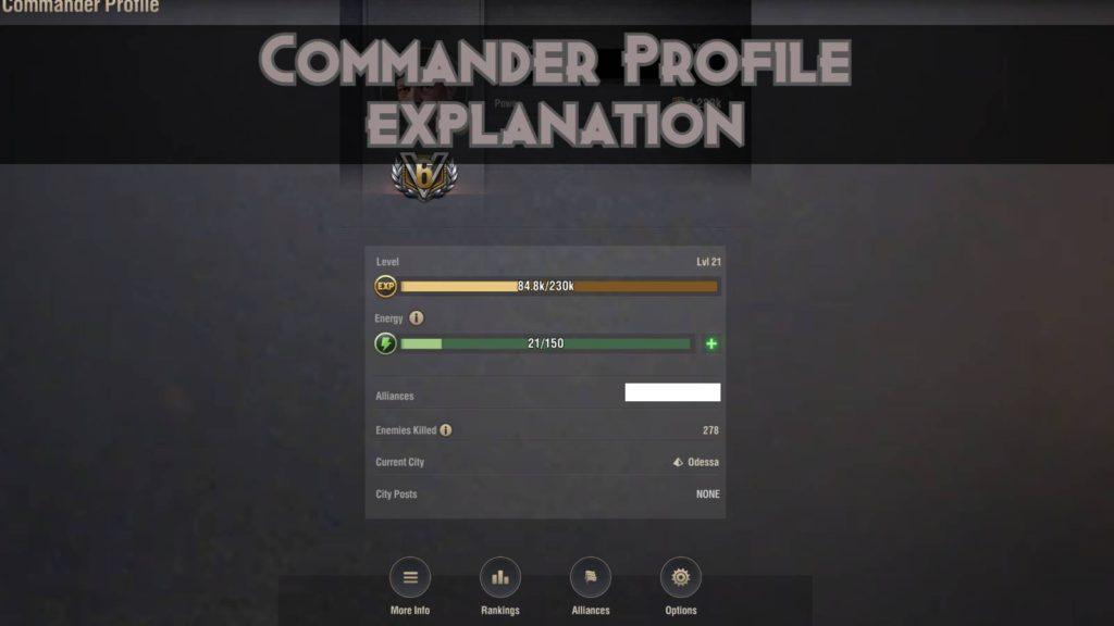 Commander Profile in Warpath