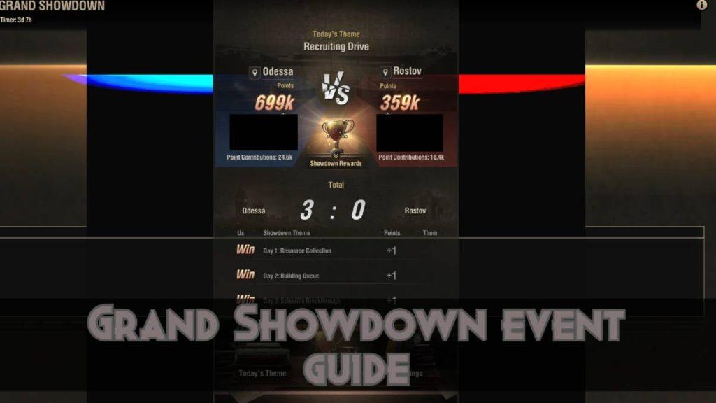 Grand Showdown Event Guide
