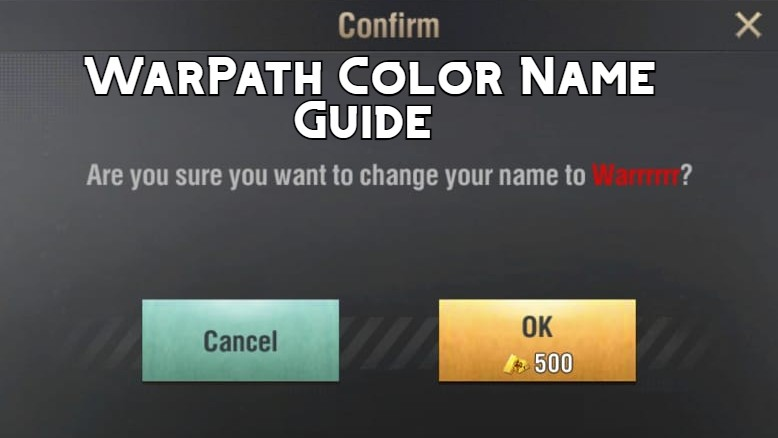 How to have Colored Name in Warpath