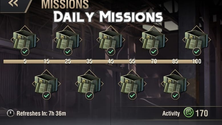 Daily Missions in Warpath Guide