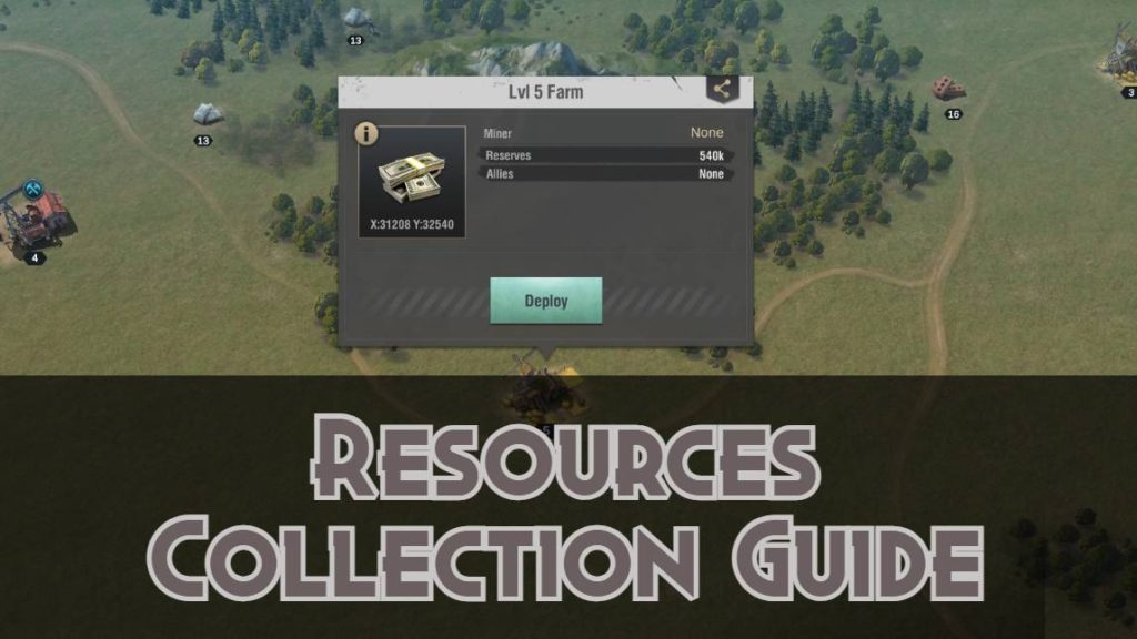 Resources collection in Warpath Guide