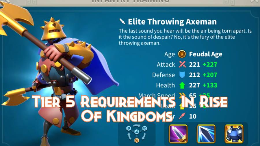 Tier 5 Requirements In Rise Of Kingdoms