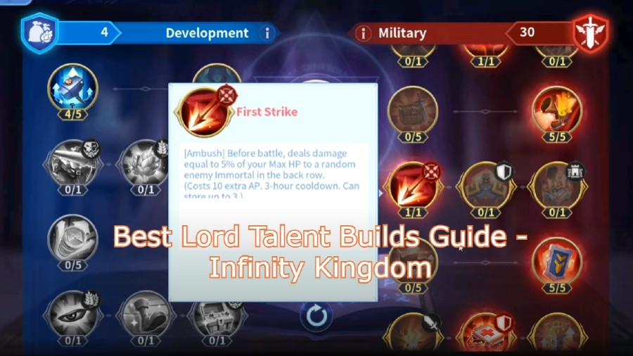 Best Lord Talent Builds Guide – Infinity Kingdom