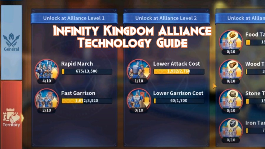 Infinity Kingdom Alliance Technology Guide
