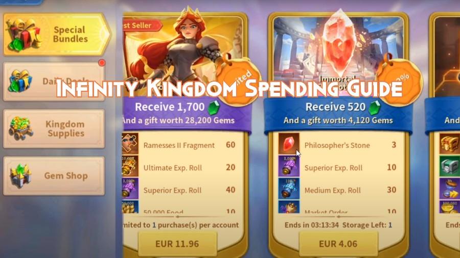 Infinity Kingdom Spending Guide