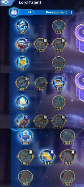 Lord Development Talent Build Infinity Kingdom