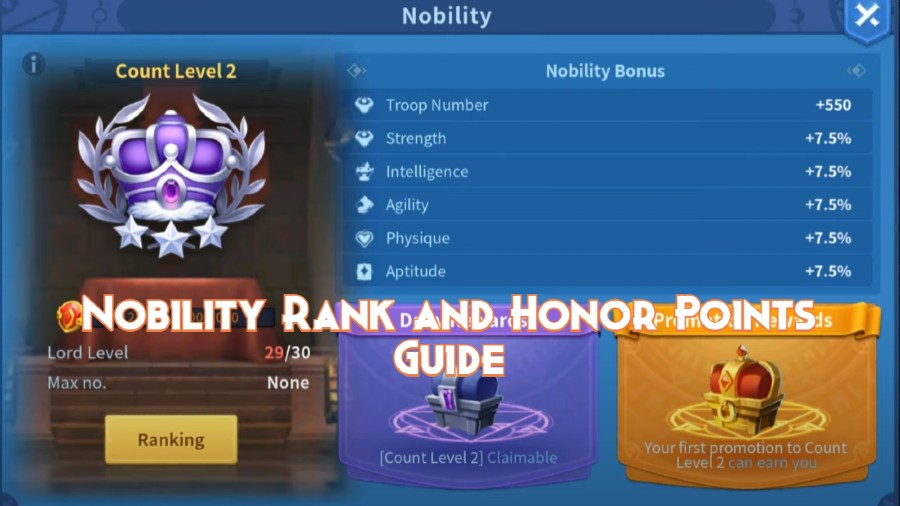 Honor Points and Nobility Rank Guide