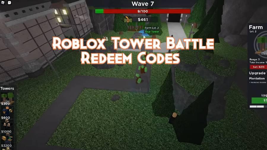 Roblox Tower Battle Redeem Codes