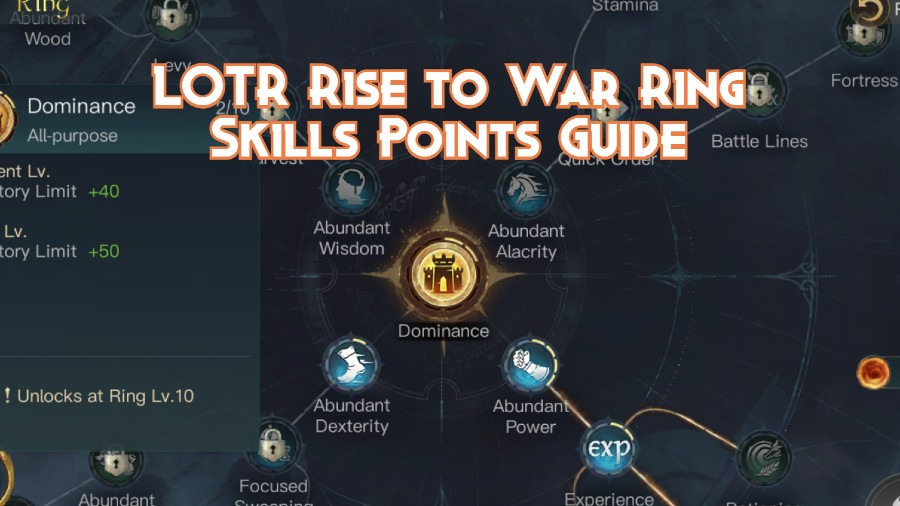 LOTR Rise to War Ring Skills Points Guide (1)